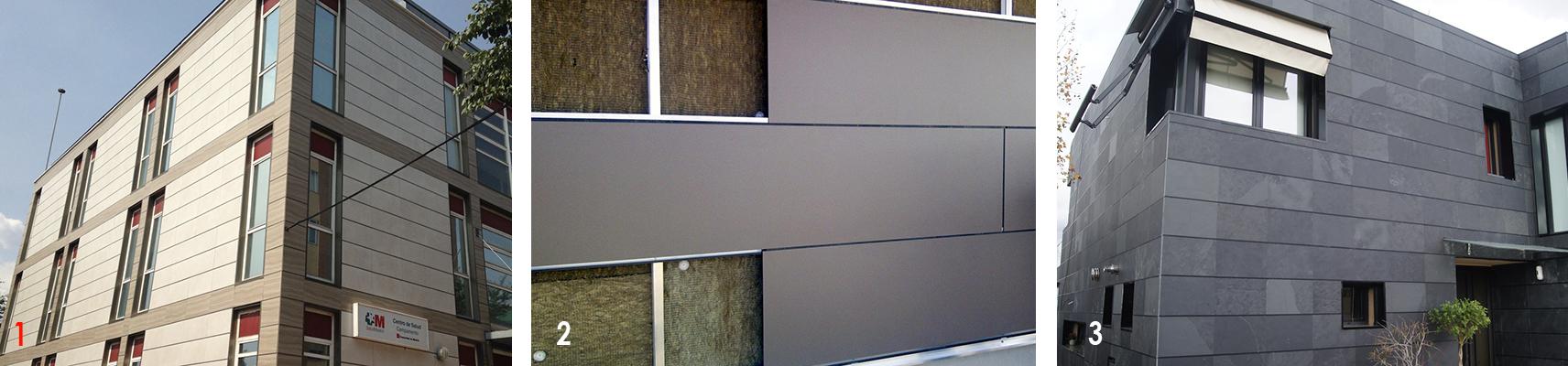 Ejemplos de fachadas ventiladas